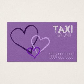 Lila Herzen mit dem Empfang: Kundenspezifischer Visitenkarte