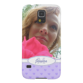 Lila Herzen: Monogramm: Bild Galaxy S5 Hüllen