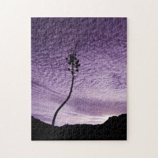 Lila Himmel-Landschaft Puzzle