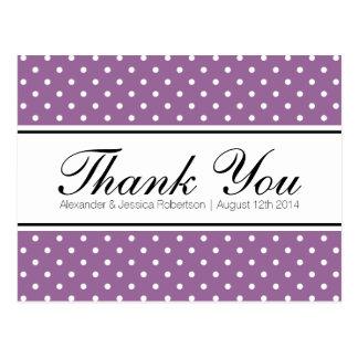 Lila Hochzeit des Lavendels danken Ihnen Postkarte