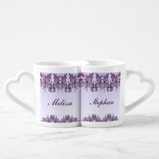 Lila Hochzeits-Liebhaber-Tassen Liebestasse