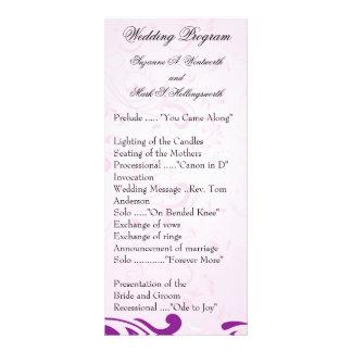 Lila Hochzeits-Programme, Frühlings-Hochzeit Individuelle Werbekarte