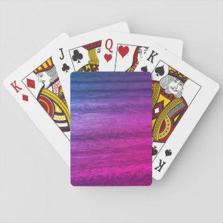 Lila hölzerner Effekt Spielkarten