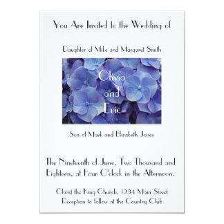 Lila Hydrangea-Blumen-Fotografie-Einladung Karte