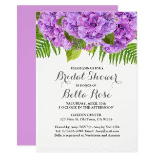 Lila Hydrangea-Brautpartyeinladung 11,4 X 15,9 Cm Einladungskarte