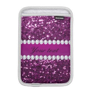 Lila Imitat-Glitter und Diamanten Sleeve Für iPad Mini