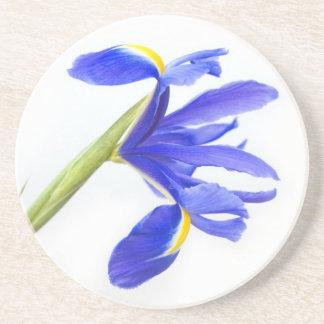 Lila Iris-Blume Sandstein Untersetzer