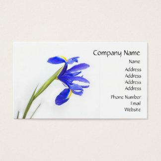 Lila Iris-Blume Visitenkarte