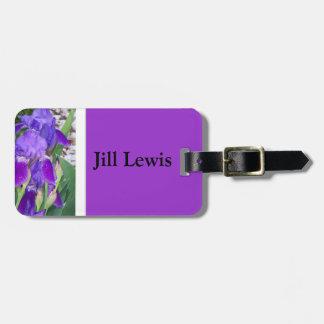 Lila Iris-Gepäck-Umbau Kofferanhänger