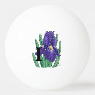 Lila Iris-personalisiertes Monogramm Tischtennis Ball