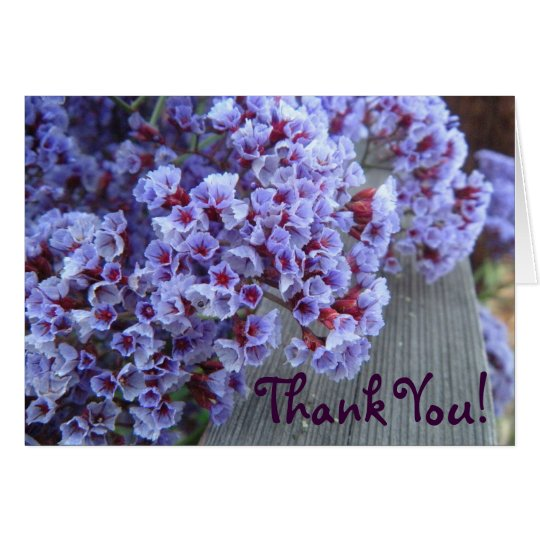 Lila Itty-Bittys danken Ihnen Mitteilungskarte