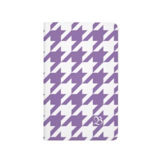 Lila Jagdhund-Zahn-Gewohnheits-Initiale Notizbücher
