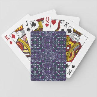 Lila Kaleidoskop auf Spielkarten