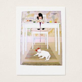 Lila Katze Visitenkarte