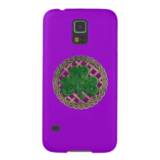Lila KleeblattCeltic knotet Galaxy S5 Cover