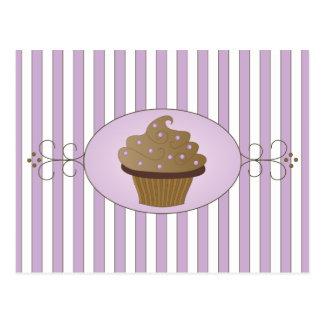 Lila kleiner Kuchen Postkarte