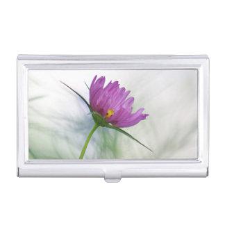 Lila Kosmos-Blume Visitenkarten Etui