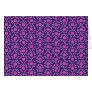 Lila Kreis-Muster-Blumen-Entwurfs-Geschenke Karte