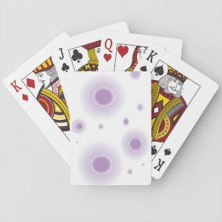 lila Kreise Spielkarten