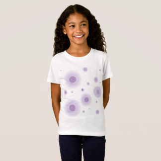 lila Kreise T-Shirt