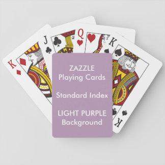 LILA kundenspezifischer STANDARDindex Spielkarten
