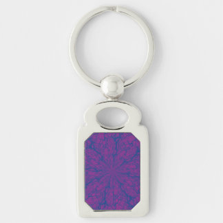 Lila Labyrinth-Rechteck Keychain Schlüsselanhänger