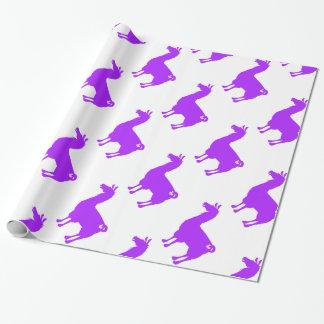 Lila Lama-Verpackungs-Papier Geschenkpapier