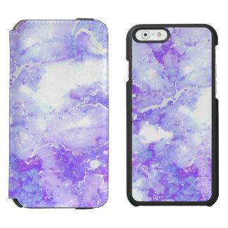 Lila Lavendel-bewölkter Marmorstein Incipio Watson™ iPhone 6 Geldbörsen Hülle