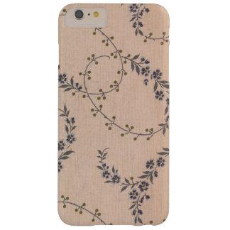 Lila Lavendel-Blumen-Rebe-Goldbeeren Barely There iPhone 6 Plus Hülle