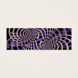 Lila Lavendel-Gitter-Karte Mini Visitenkarte