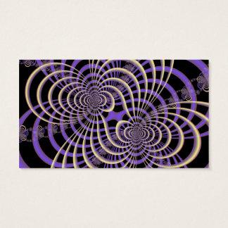 Lila Lavendel-Gitter-Karte Visitenkarte