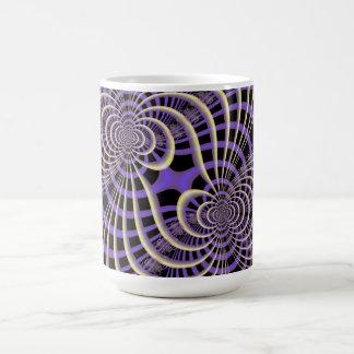 Lila Lavendel-Gitter-Tasse Kaffeetasse