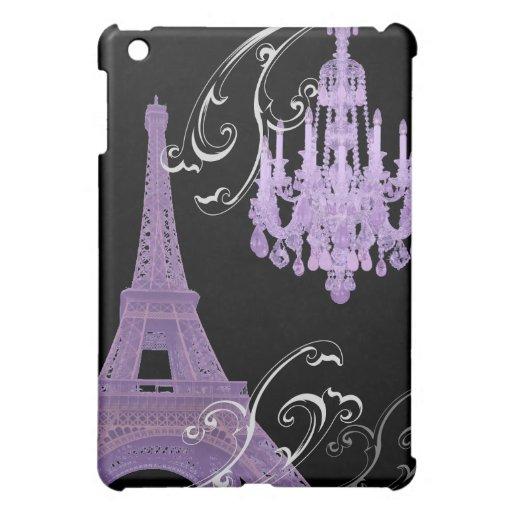 Lila Leuchter Effiel Turm Save the Date iPad Mini Schale