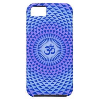 Lila Lotos-Blumen-Meditationsrad OM iPhone 5 Case