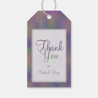 Lila magentarotes grünes Gold danken Ihnen Geschenkanhänger