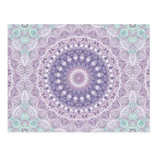 Lila Mandala im Lavendel-und Seegrün Postkarte