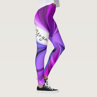 Lila Marmorwatercolor-Yoga-Entwurf Leggings