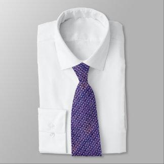 Lila Metallkettenhemd metallische mittelalterliche Krawatten