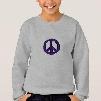 Lila Mini des Friedenszeichens - Sweatshirt