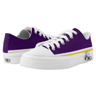 Lila mit Weiß und Goldordnung Lo-Spitze Niedrig-geschnittene Sneaker