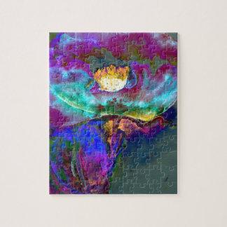 Lila Mitternachtsmohnblume