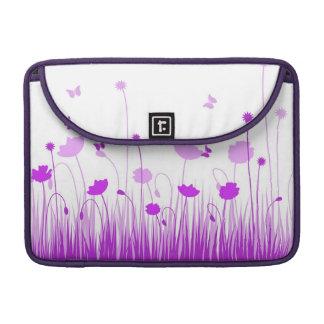 Lila Mohnblumen Rickshaw-Klappen-Hülse Sleeve Für MacBooks