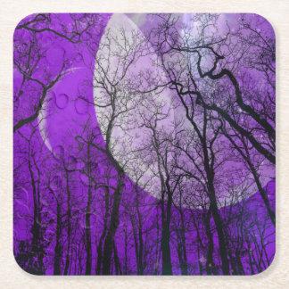 Lila Mondwald fertigen FarbUntersetzer besonders Rechteckiger Pappuntersetzer