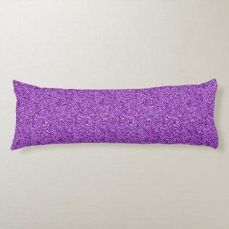 Lila Moondust Glitter-Muster Seitenschläferkissen