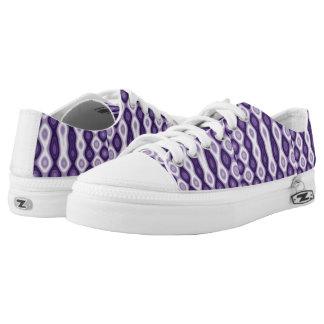Lila Muster Niedrig-geschnittene Sneaker