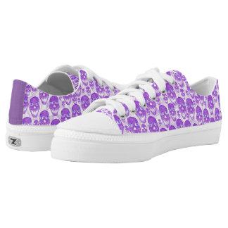 Lila niedrige Spitzenschädel Niedrig-geschnittene Sneaker