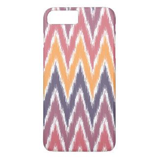 Lila orange Ikat Zickzack Zickzack Stripes Muster iPhone 8 Plus/7 Plus Hülle