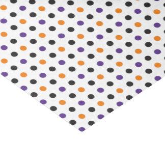 Lila orange und schwarzes Halloween-Seidenpapier Seidenpapier