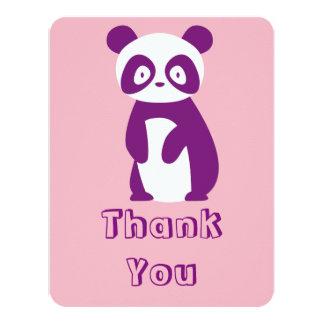 Lila Panda-Baby-Dusche danken Ihnen zu kardieren Karte