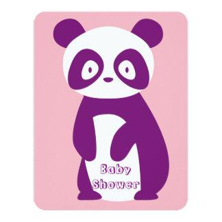 Lila Panda-Baby-Duschen-Einladungs-Karte Karte
